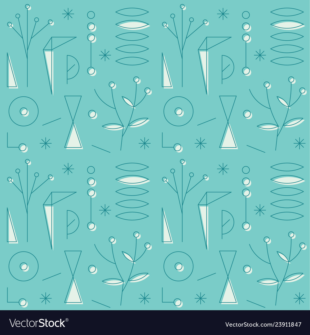 Original geometric vintage pop-art pattern
