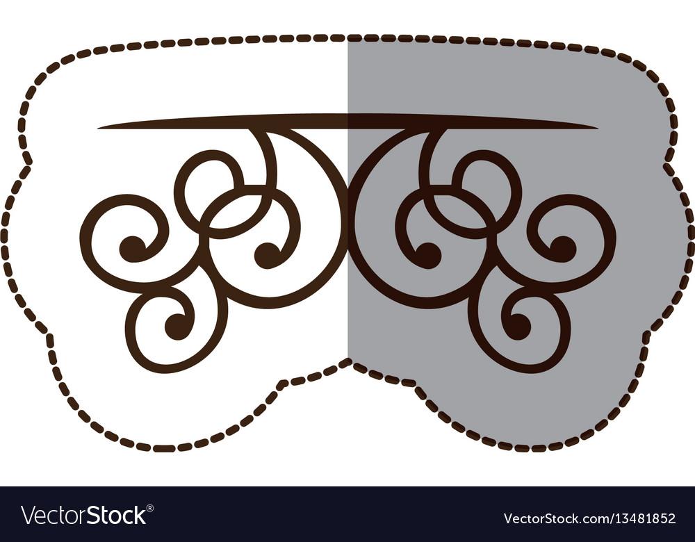 Brown decorative swirl shelf icon