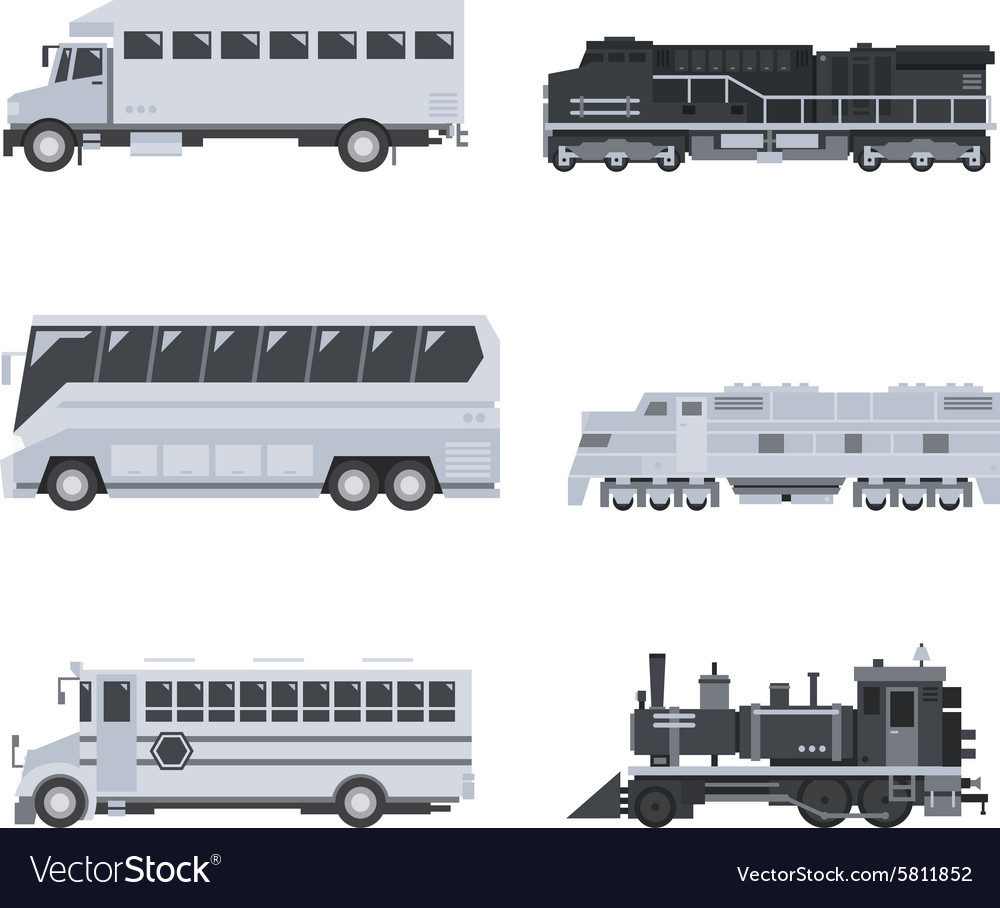 Bus truck and train set