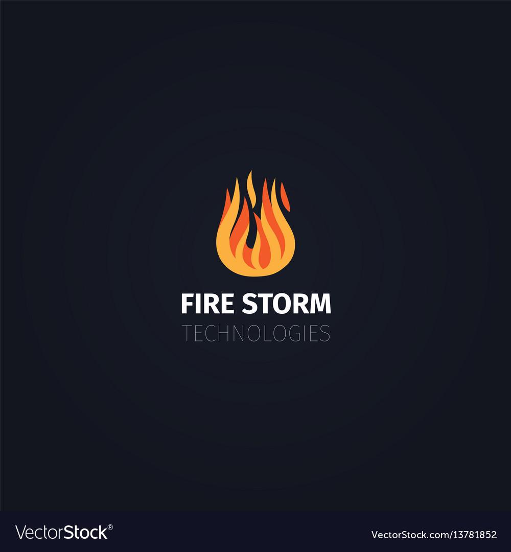Fire storm technologies logo template