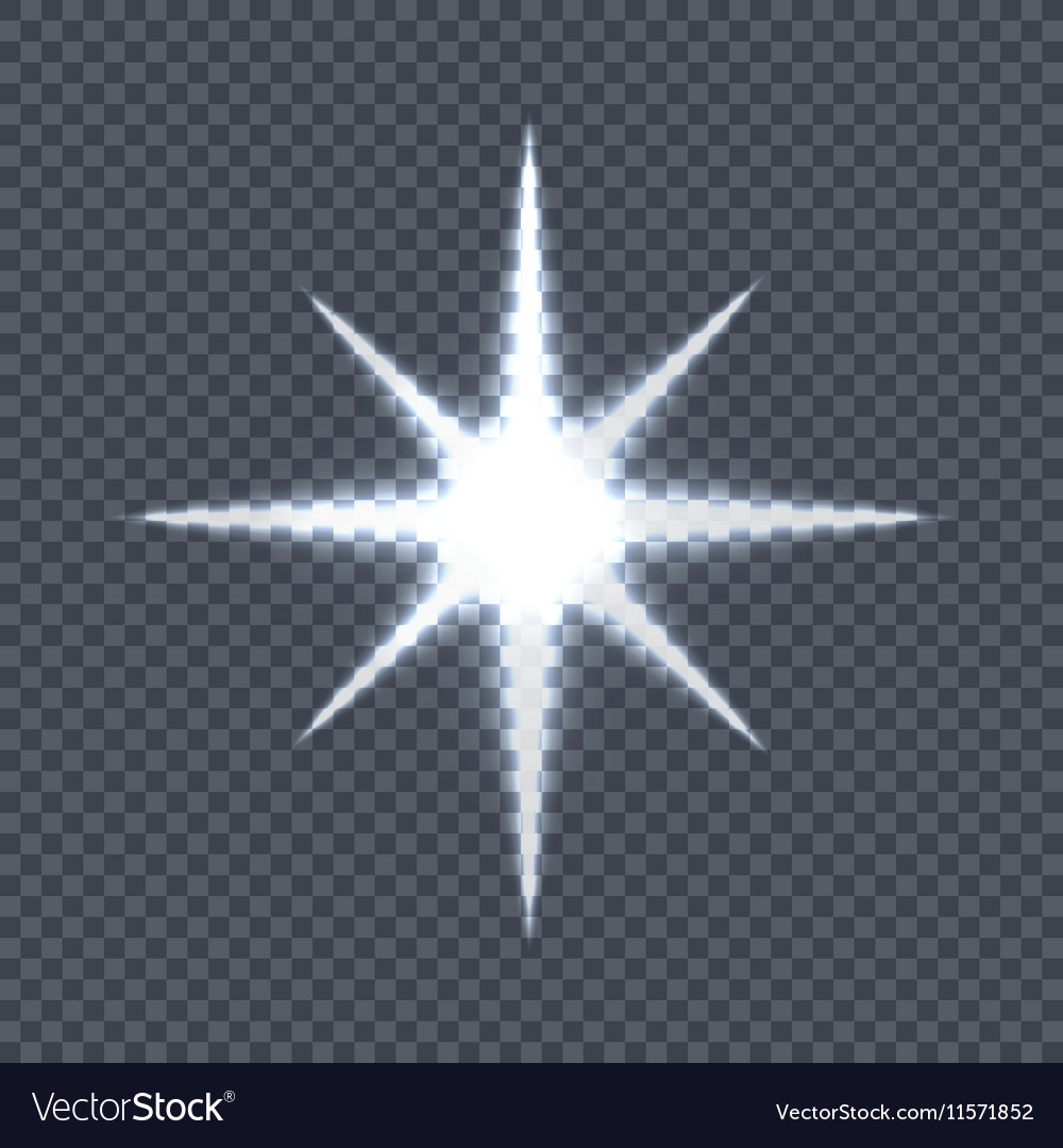 Glowing Star on Transparent Background vector image
