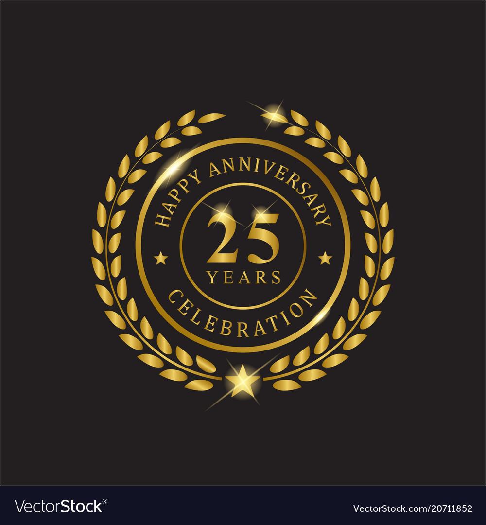 Gold wreath anniversary twenty five years