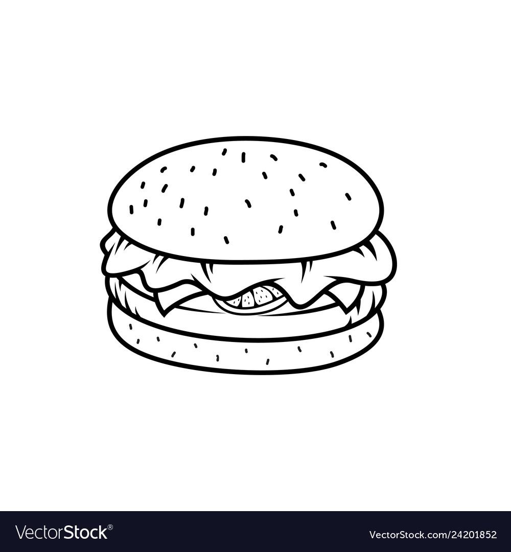 Outline burger image