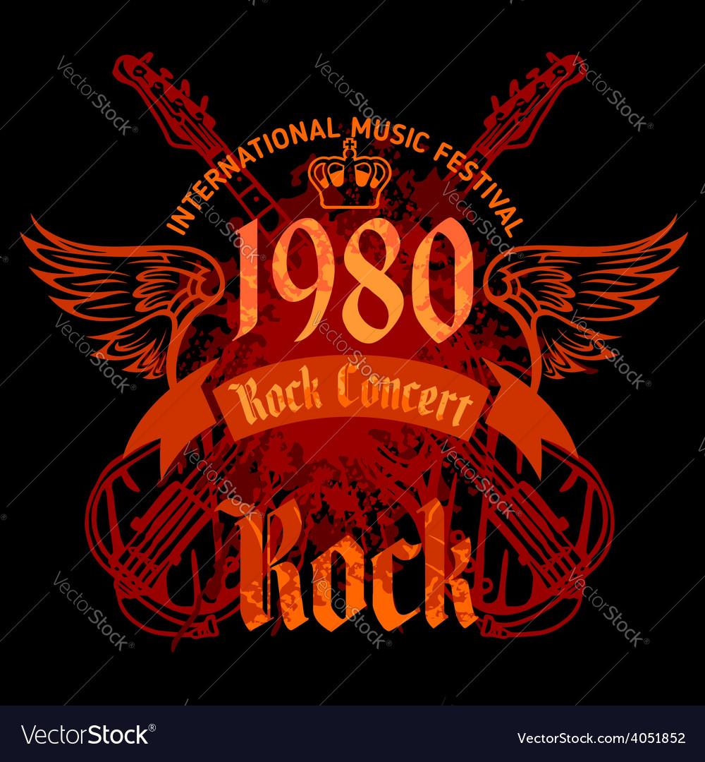 Rock concert poster - 1980s