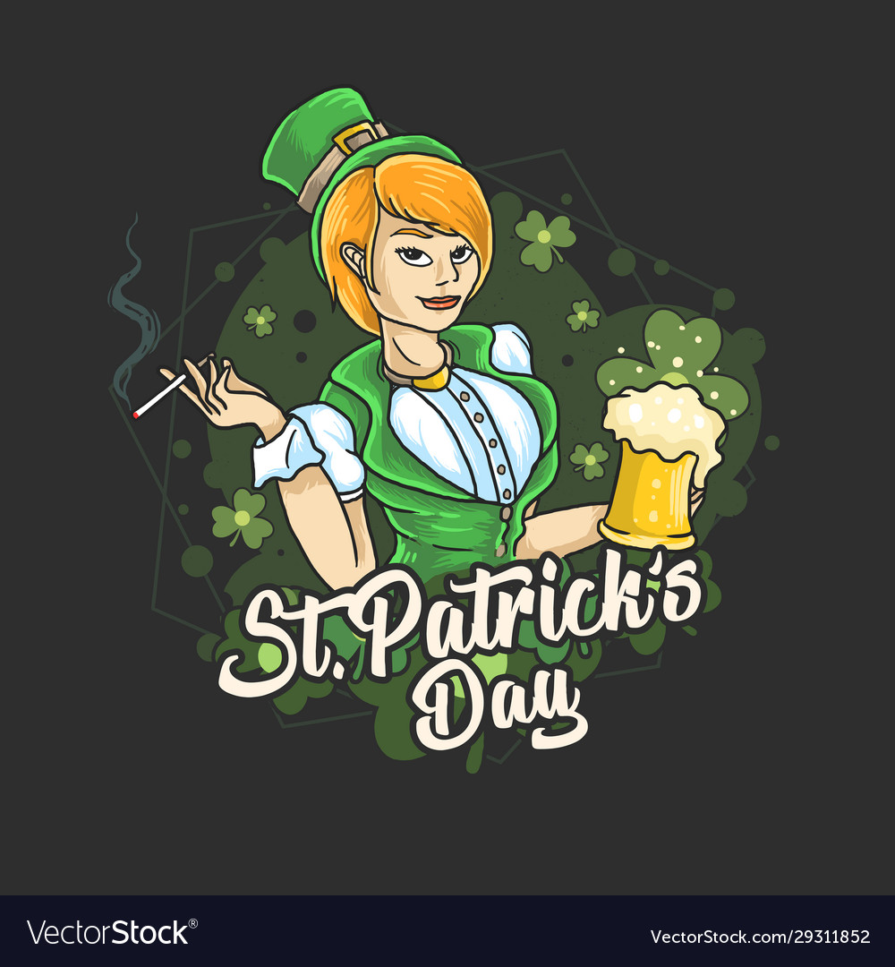 Saint patricks day ladies love beer party
