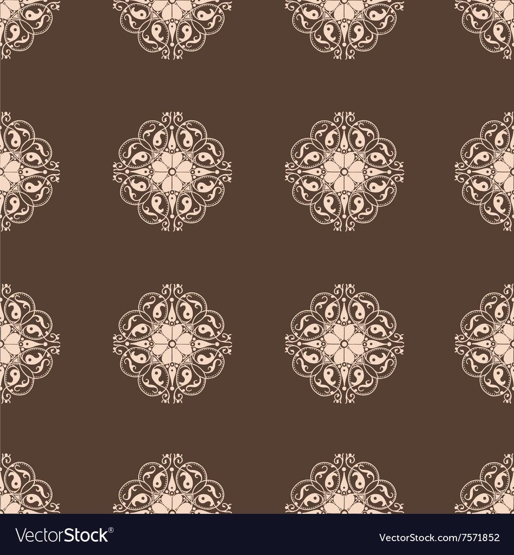 Seamless Damask wallpaper Vintage pattern