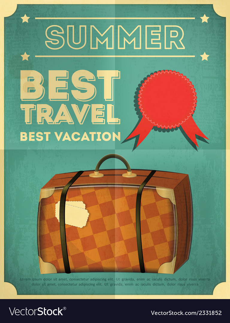 Suitcase travel poster