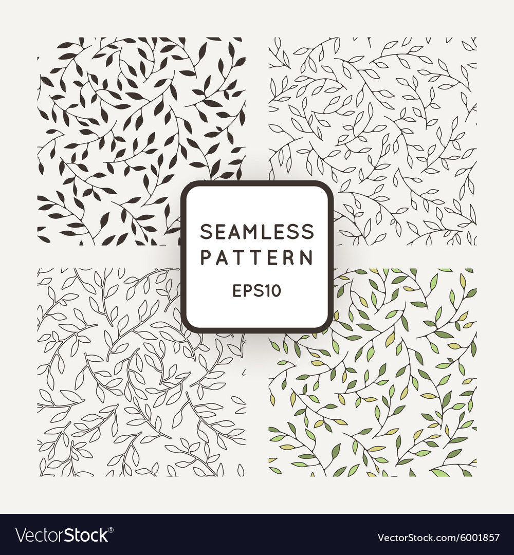 A set of four patterns from leaves and