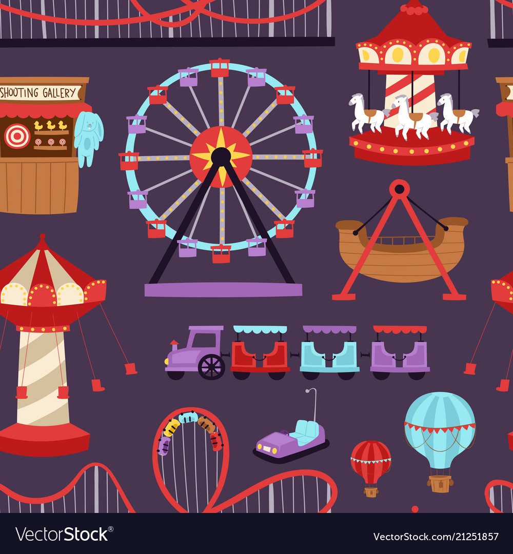 Carousels amusement attraction side-show kids park
