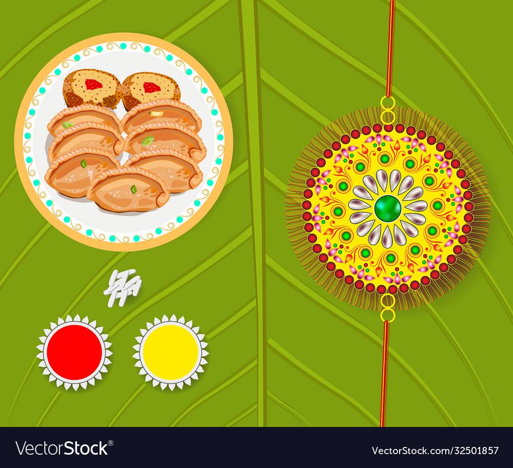 Greeting card on occasion rakhi festival