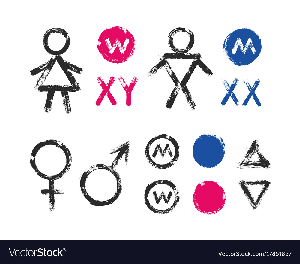 Male Female Symbols Wc Toilet Icons Royalty Free Vector