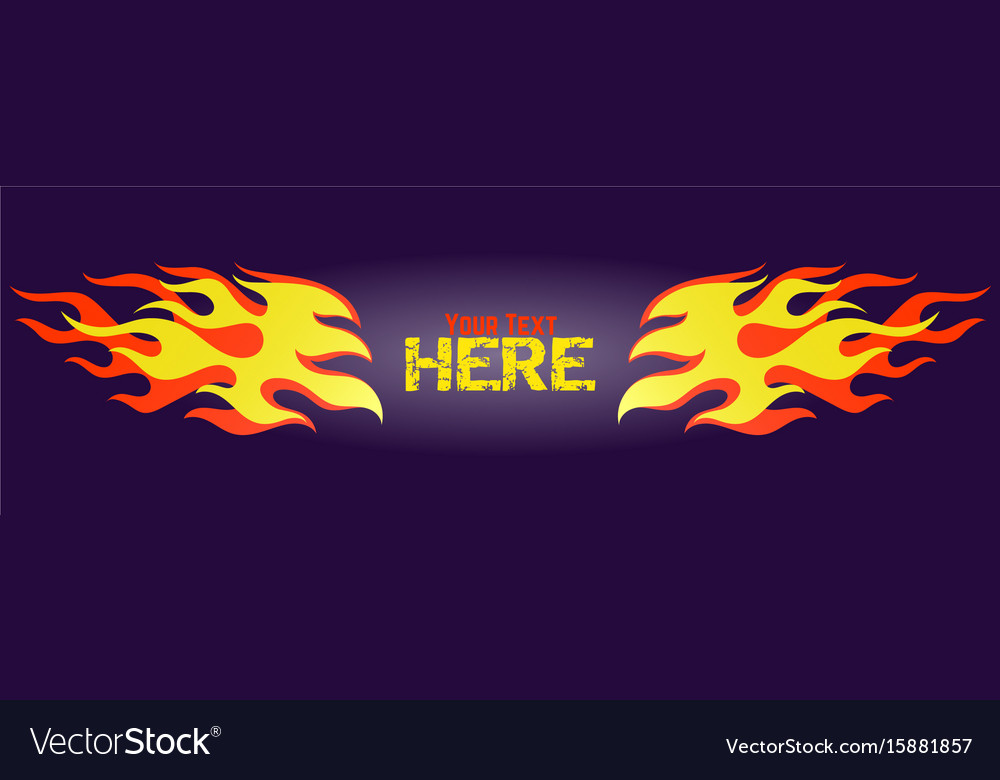 Red and yellow gradient flame frame element