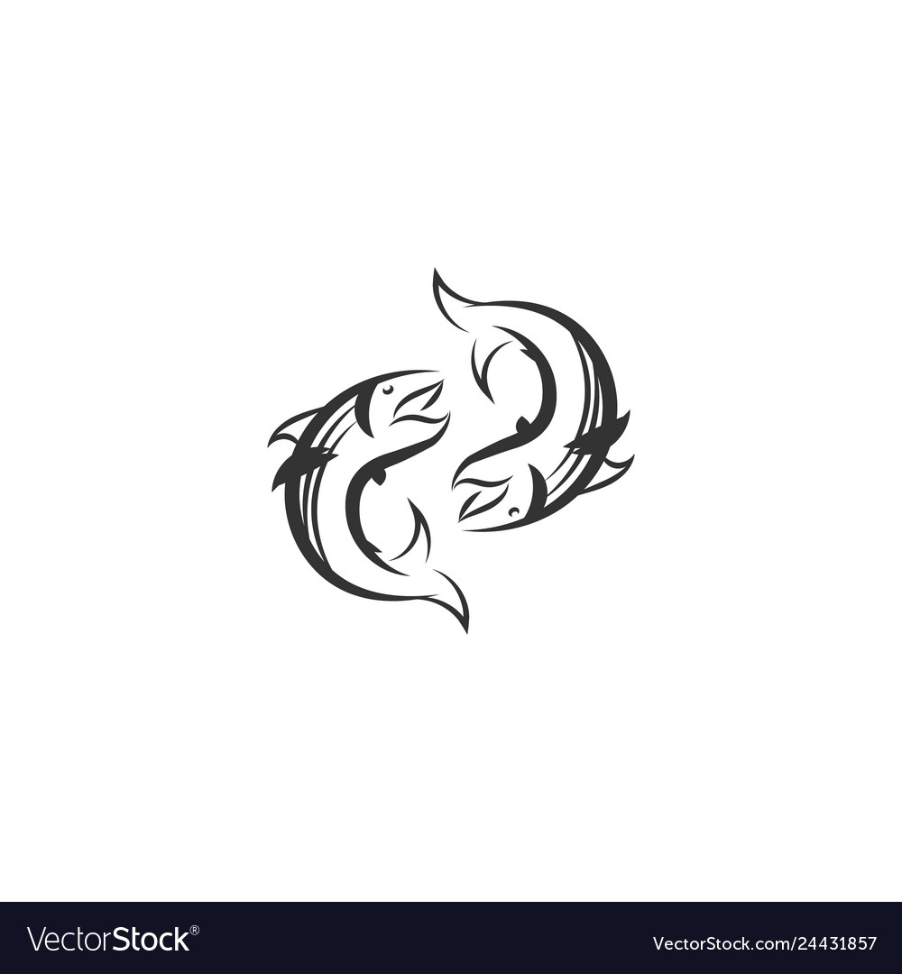Salmon bass logo designs inspiration