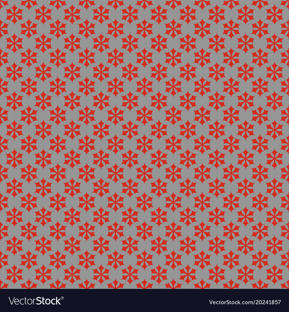 Seamless simple geometrical snow flake pattern