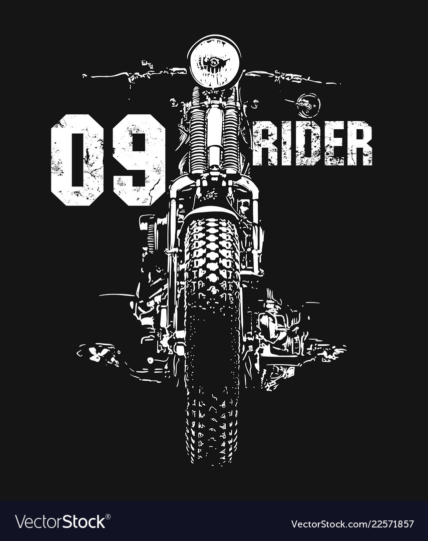 Vintage motorcycle hand drawn t-shirt