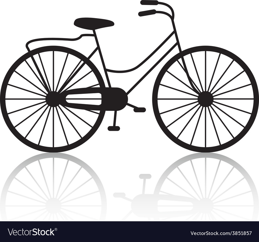 vintage retro bicycle silhouette icon royalty free vector rh vectorstock com vector bicycle pavement markings vector bicycle playing cards