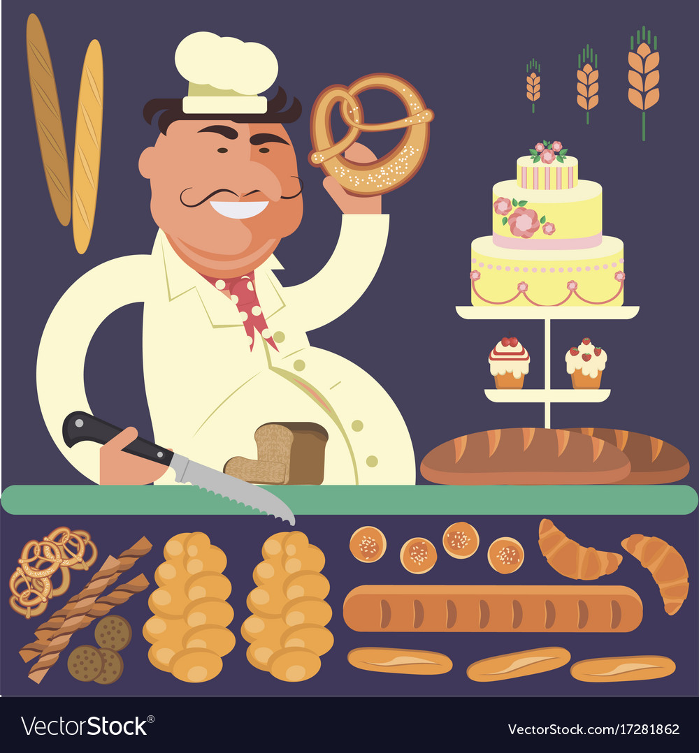 Bakery shop and chef
