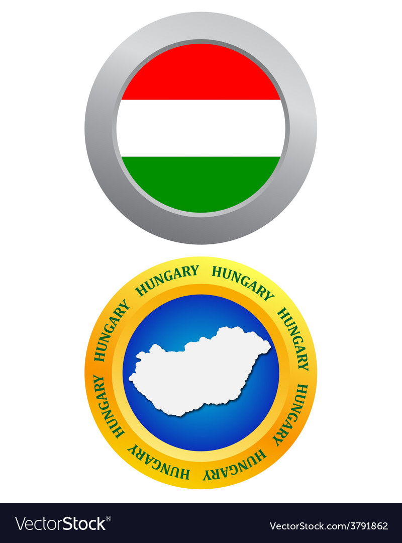 Button as a symbol HUNGARY vector image