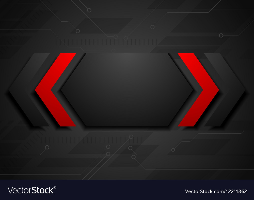 Contrast red black geometric abstract background