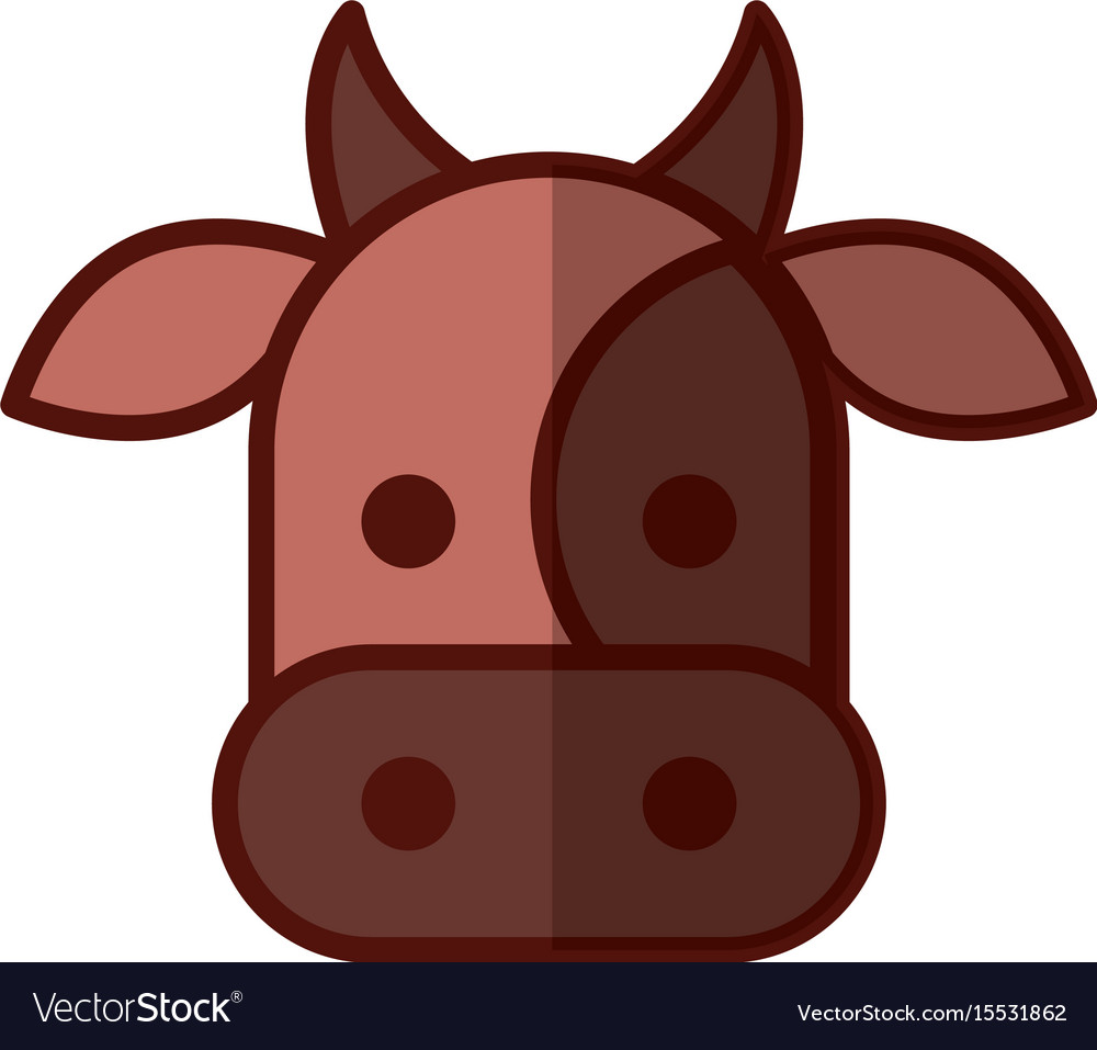Cow head isolated icon