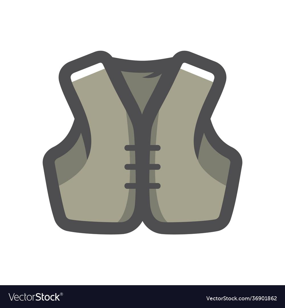 Jacket biker clothing icon cartoon