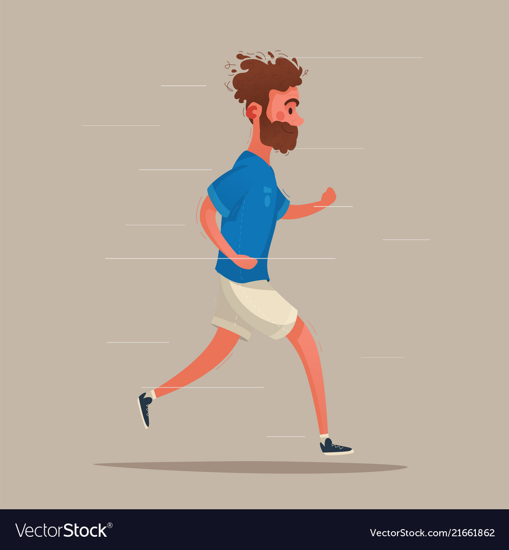 Running sporty character