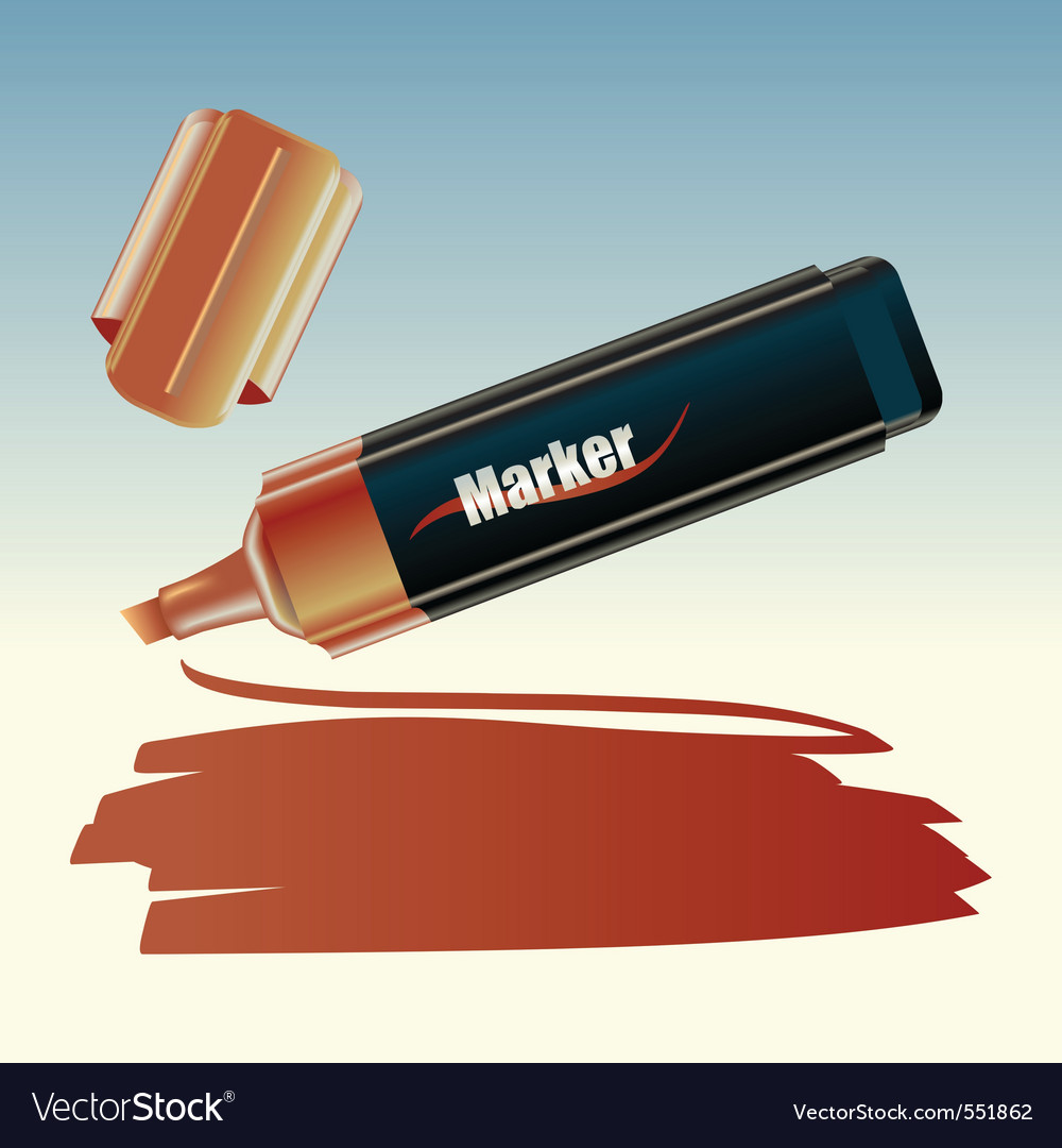 Vector illustration of the marker drawing on the s