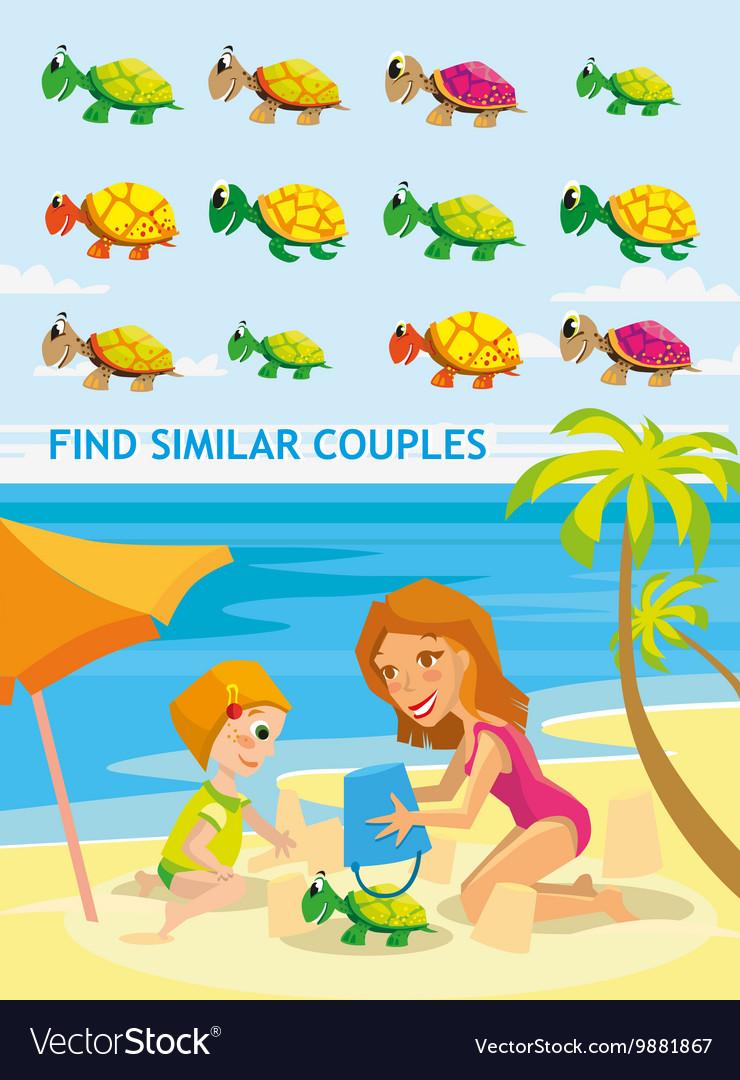 Beautiful cartoon Funny match vector image