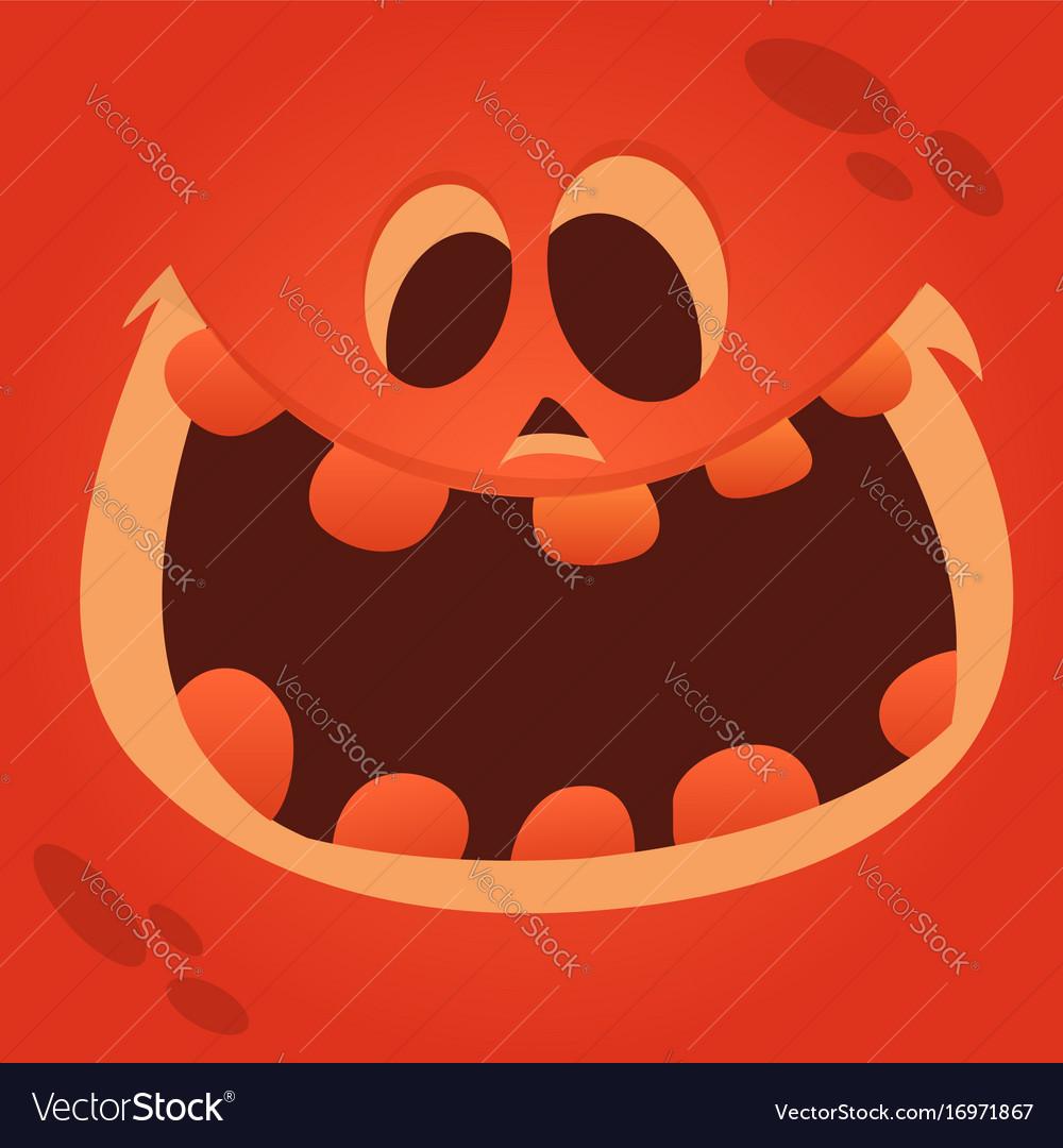 Cartoon Jack O Lantern Face Royalty Free Vector Image