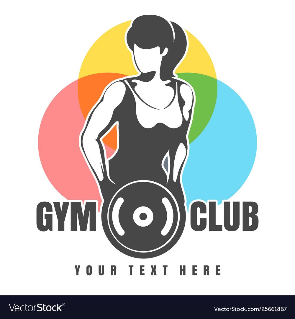 Gym or fitness club emblem