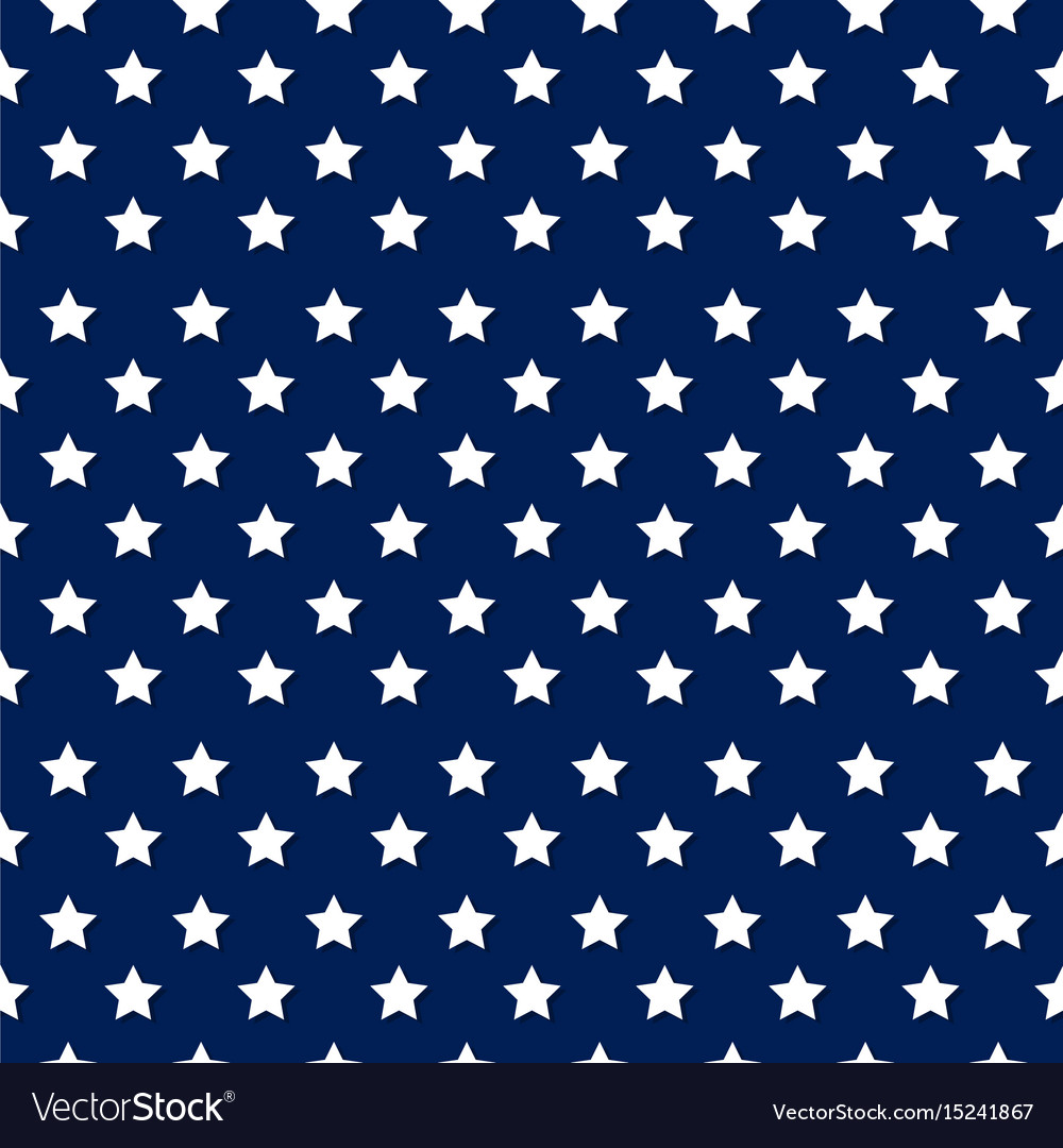 Independence day seamless pattern with stars - whi