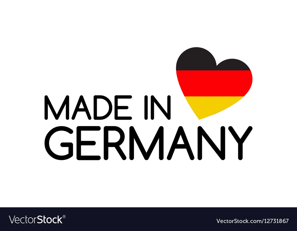 Made In Germany Symbol With The Heart Royalty Free Vector