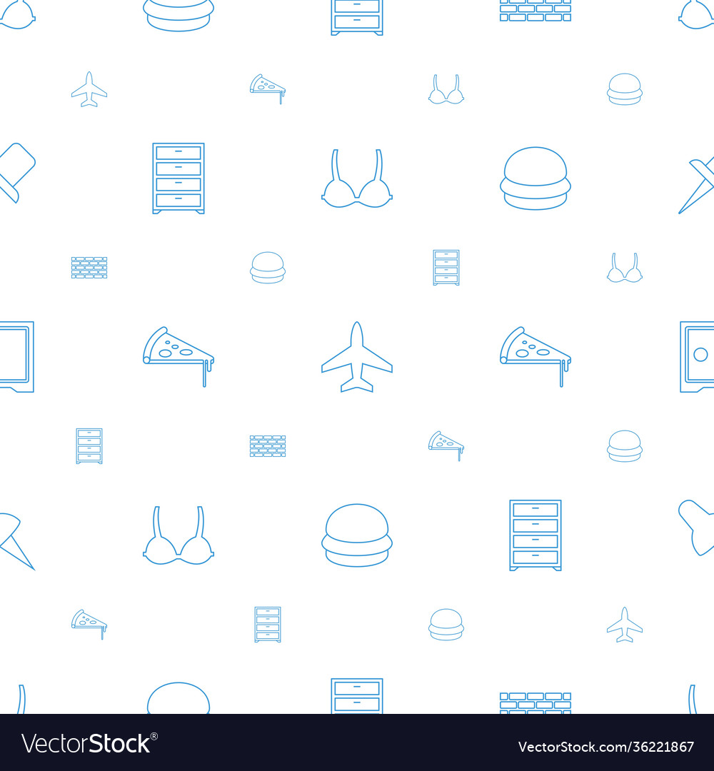 Solid icons pattern seamless white background