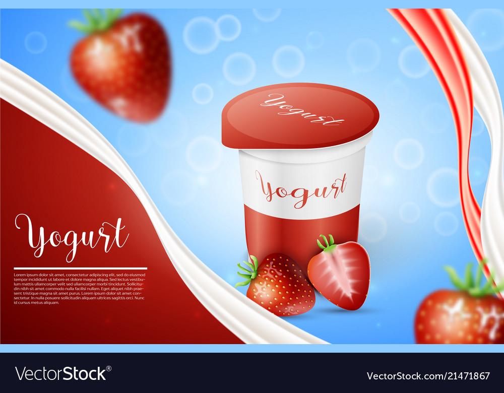 Strawberry and yogurt milk splashes