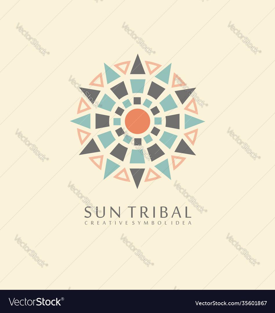Sun tribal symbol