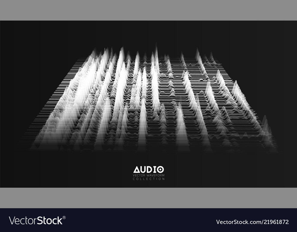 3d echo audio wavefrom spectrum abstract