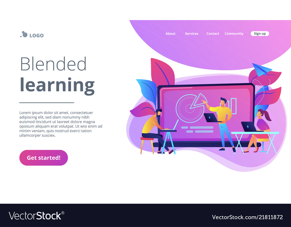 Blended learning landing page