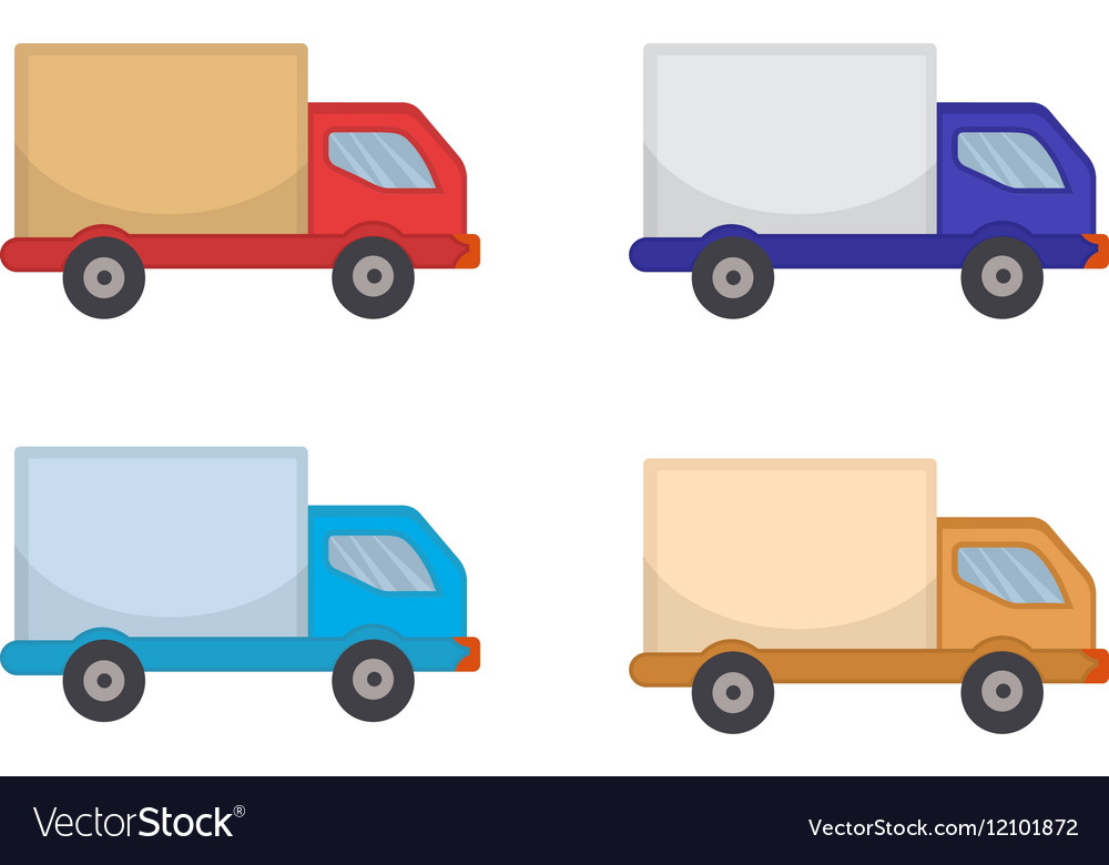 Delivery Truck Icon flat style Lorry isolated