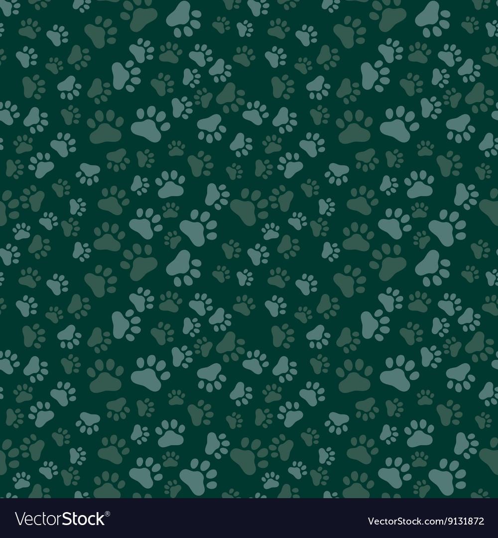 Dog Paw Print Seamless anilams pattern