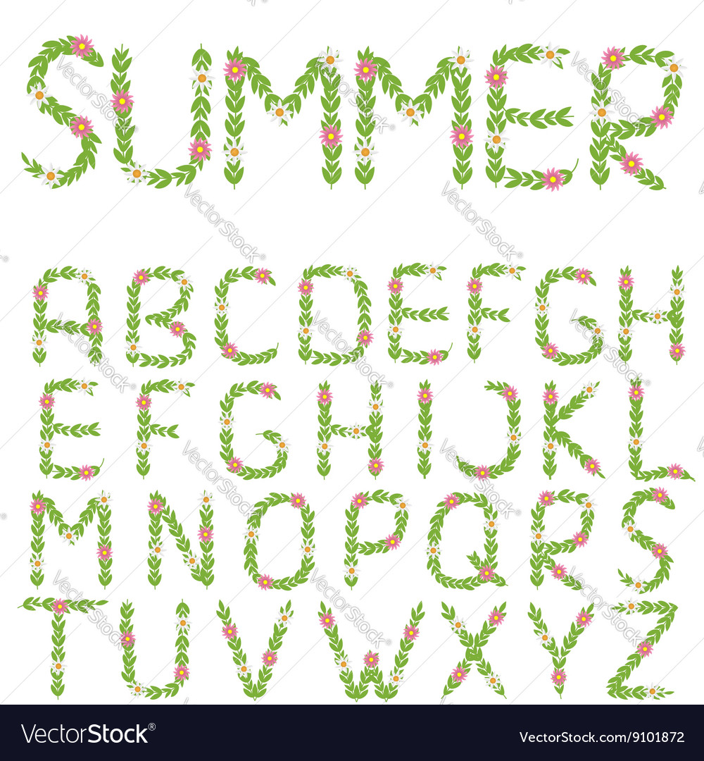 Green summer letters