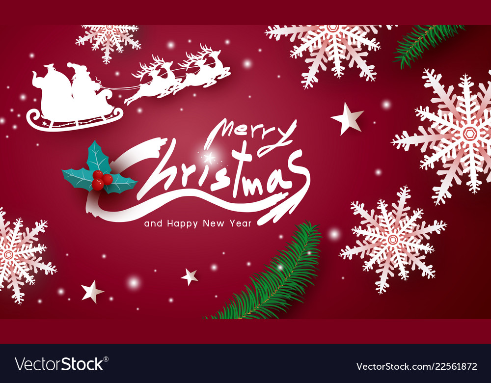 Merry christmas and happy new year design