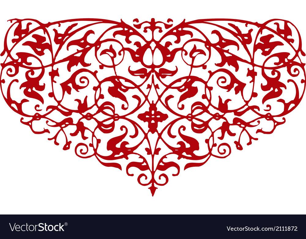 Ornamental heart shape