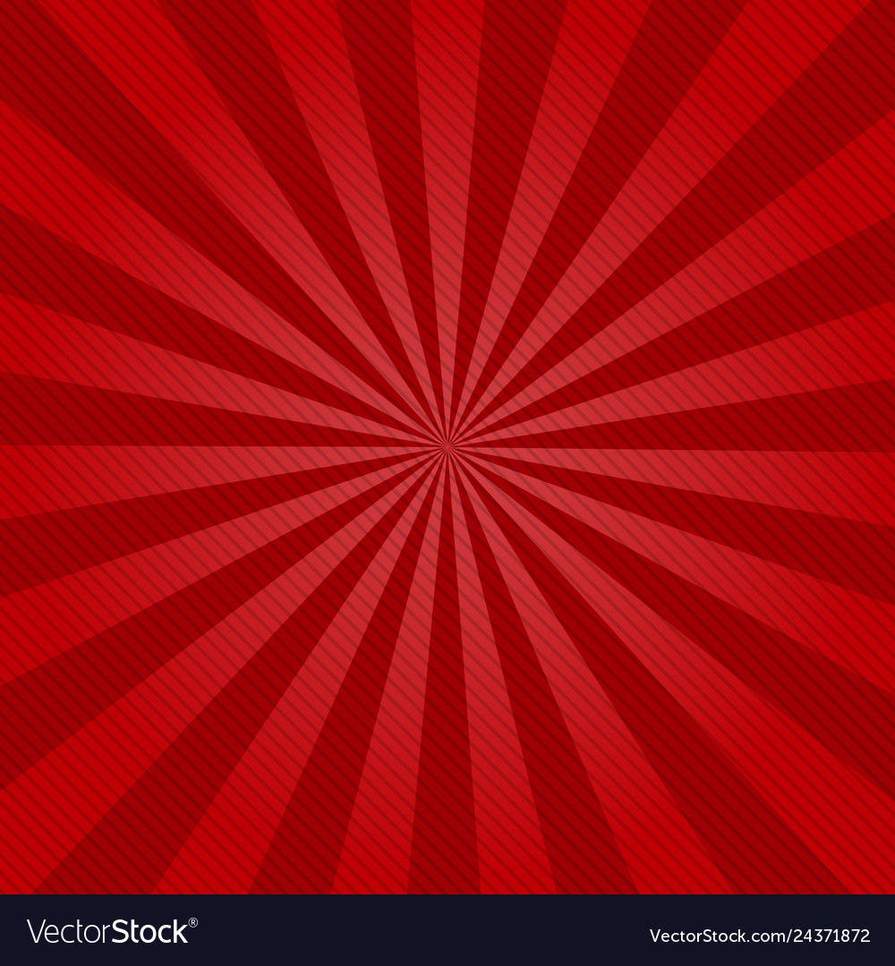 Retro ray background with lines of red color