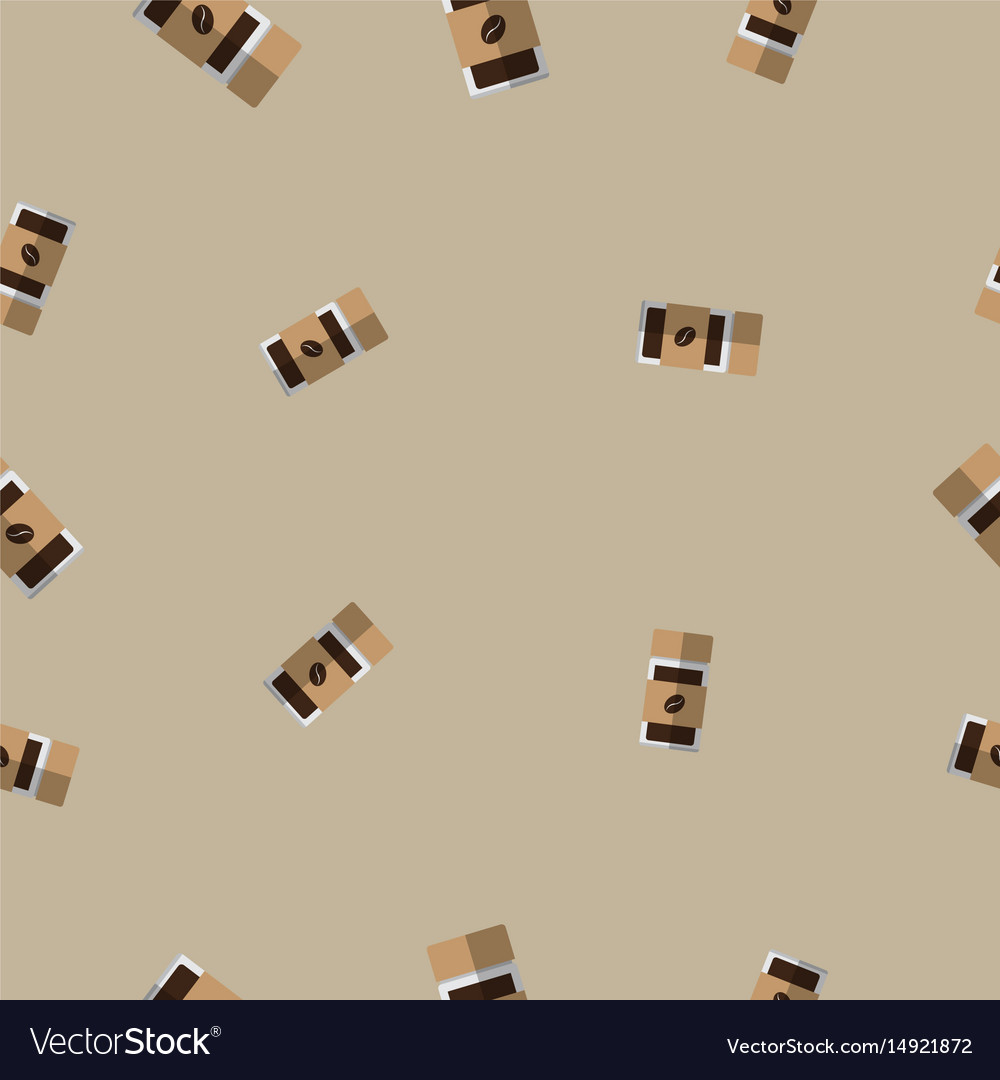 Seamless pattern with coffee glass bottle
