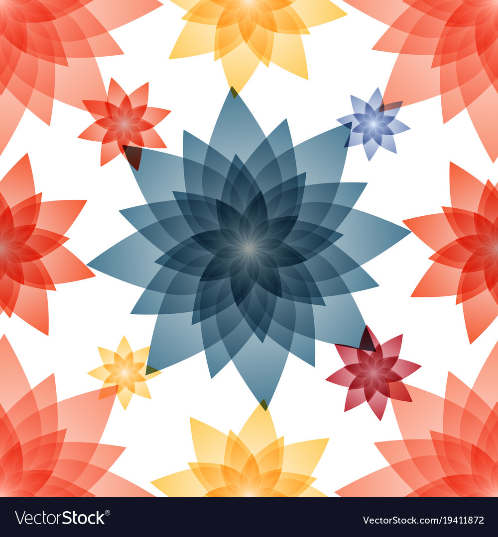 Seamless pattern with floral decorative vector image