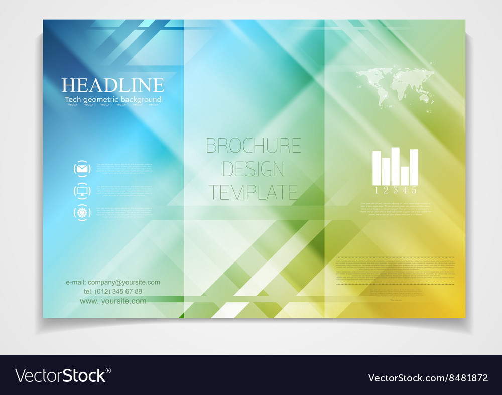 tri fold brochure design template royalty free vector image