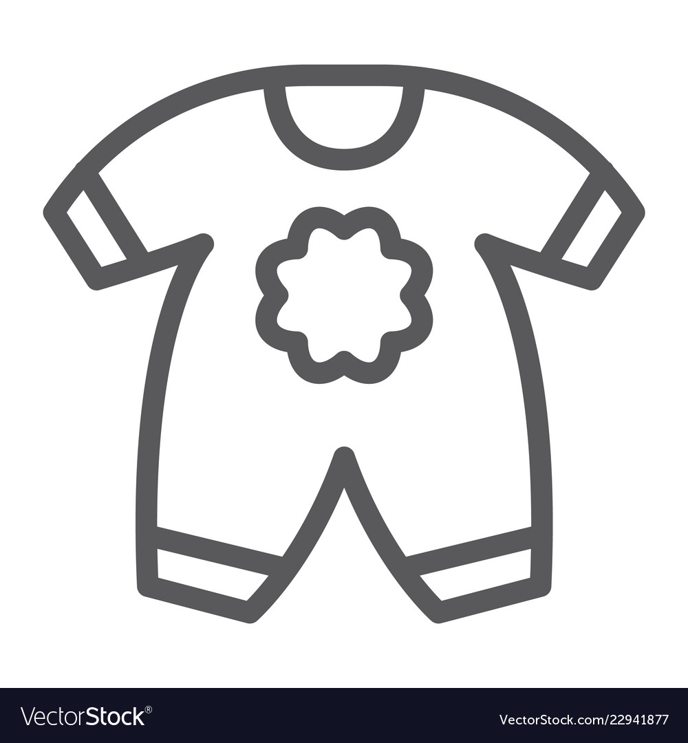 f384fd21217c Baby clothes line icon kid and clothing Royalty Free Vector