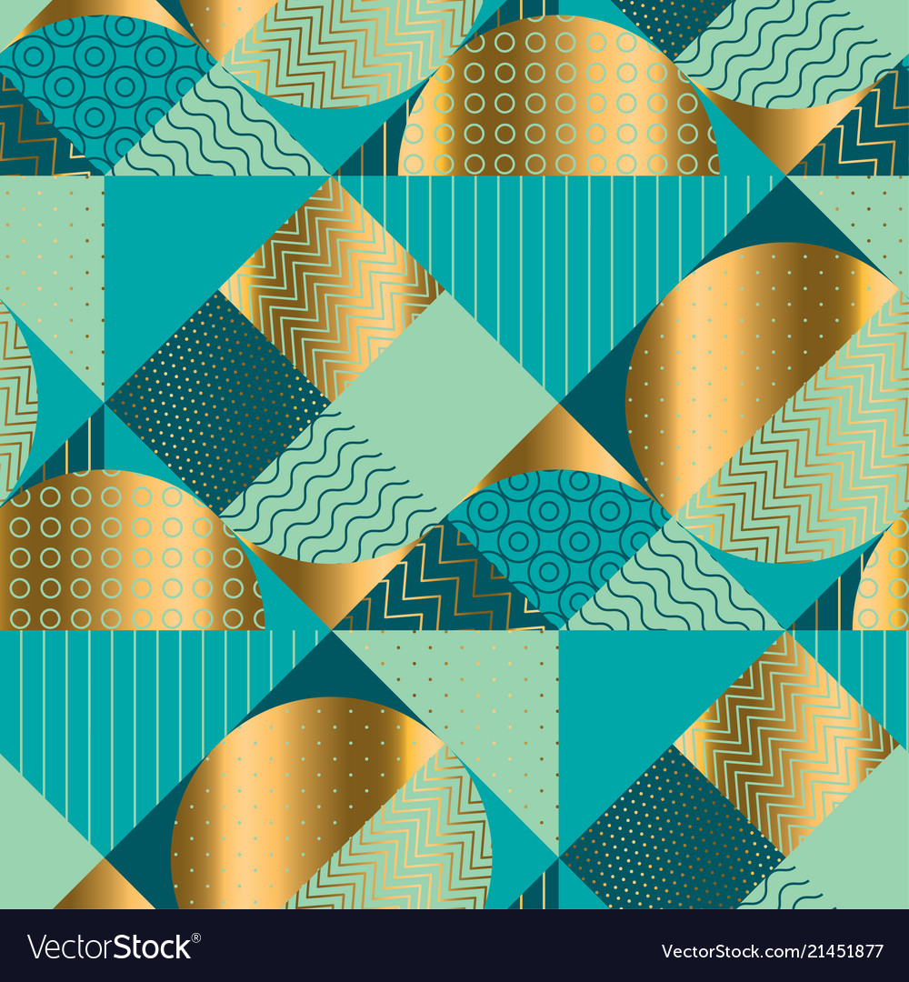 Geometric luxury seamless pattern for background