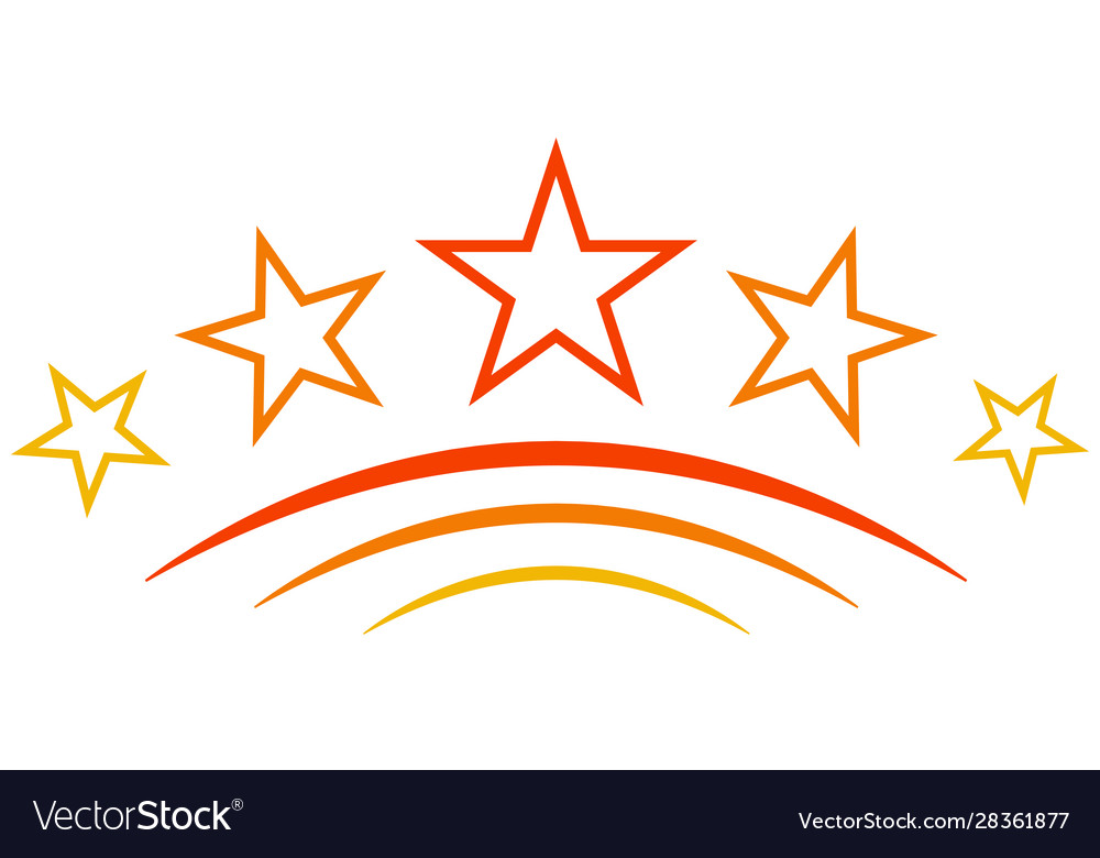 Logo icon five 5 stars sign quality symbol
