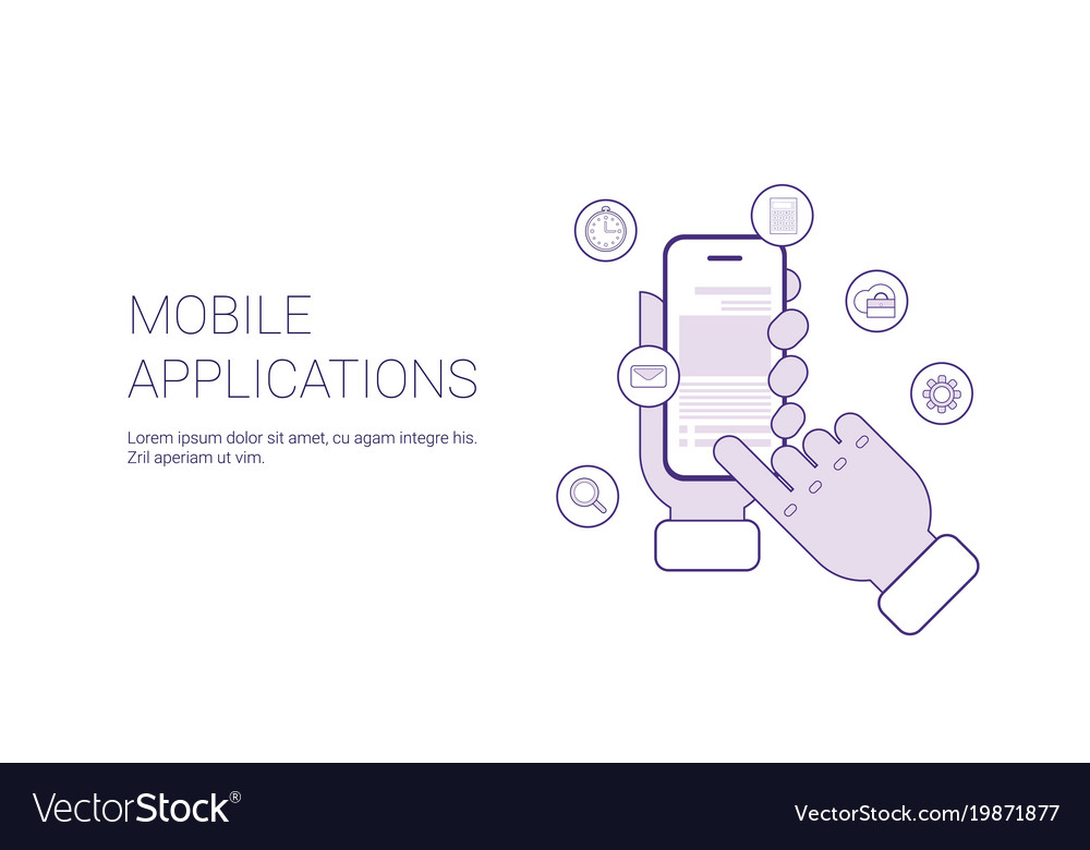 Mobile applications business concept template web